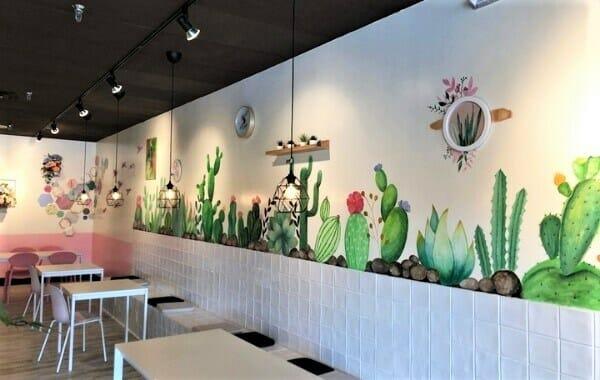 dịch vụ vẽ tranh tường tiệm trà sữa hcm