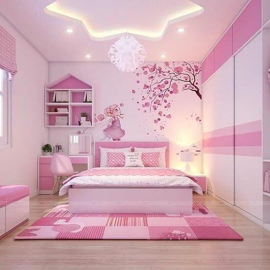 trang trí phòng ngủ cho bé gái như truyện cổ tích