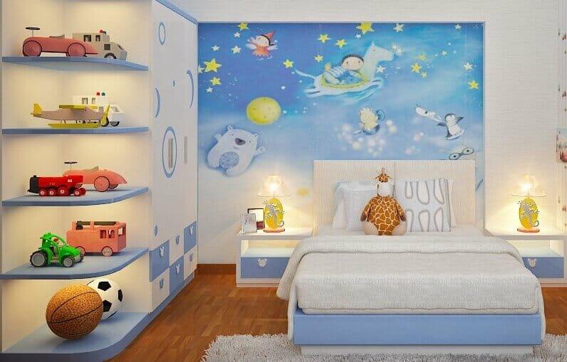 trang trí phòng ngủ cho bé trai