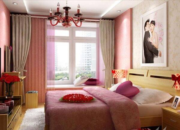 trang trí phòng ngủ cho vợ chồng đơn giản