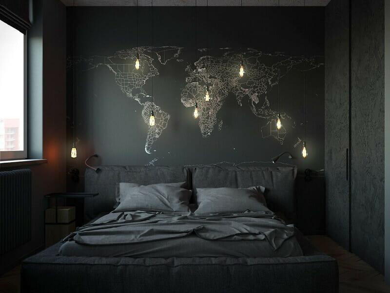 trang trí phòng ngủ nhỏ cho nam