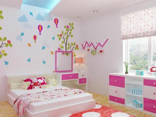 trang trí phòng ngủ nhỏ cho nữ đơn giản