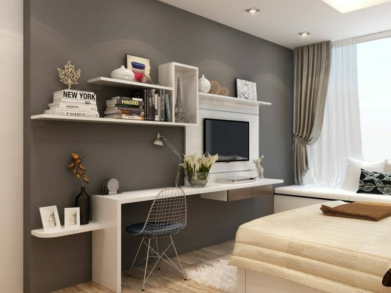 trang trí phòng ngủ nhỏ hẹp ấn tượng