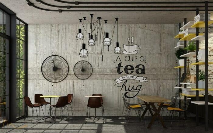 trang trí quán trà sữa độc lạ