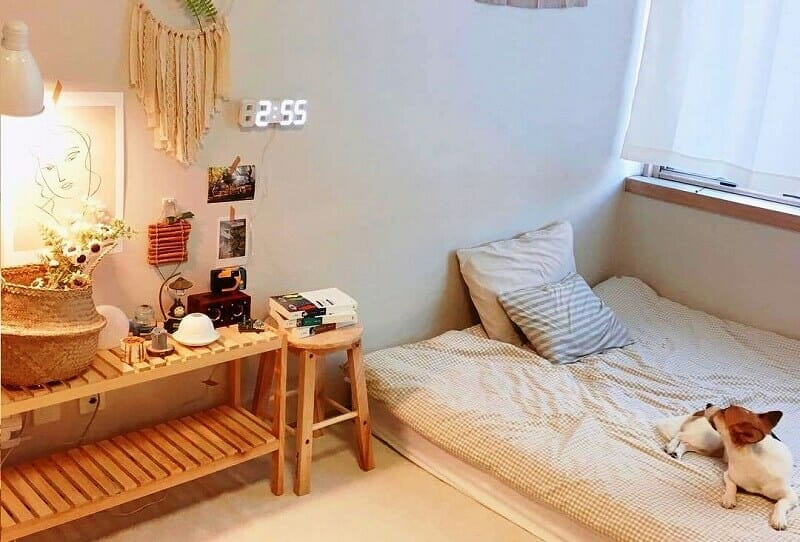 trang trí phòng ngủ kiểu Hàn Quốc cute