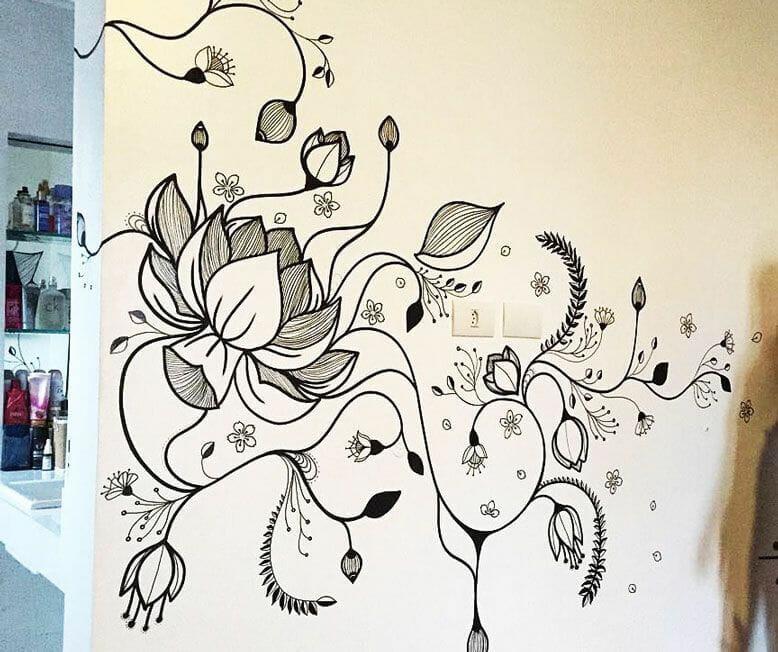 vẽ tranh tường quán trà sữa đẹp