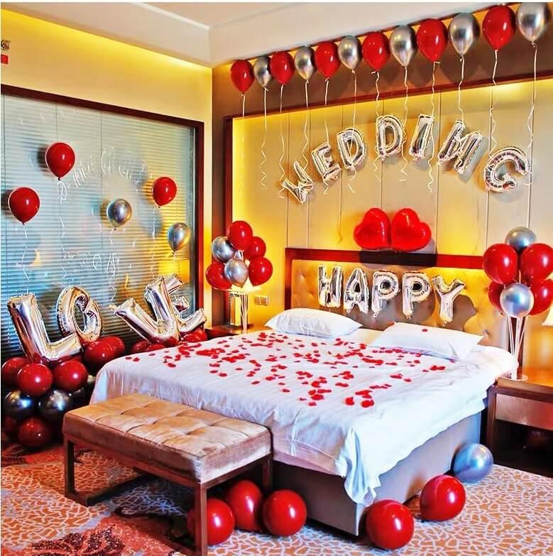 trang trí phòng cưới đơn giản lãng mạn