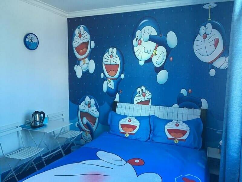 trang trí phòng doremon
