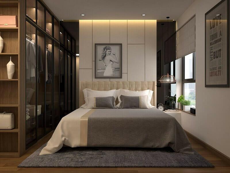 trang trí phòng ngủ hiện đại đơn giản + sang trọng