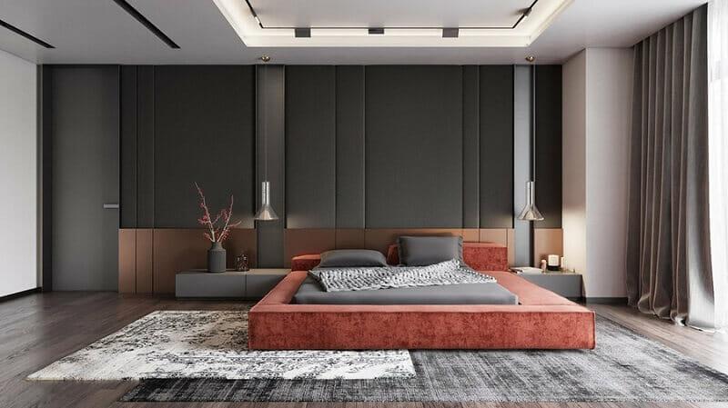 trang trí phòng ngủ không giường tinh tế
