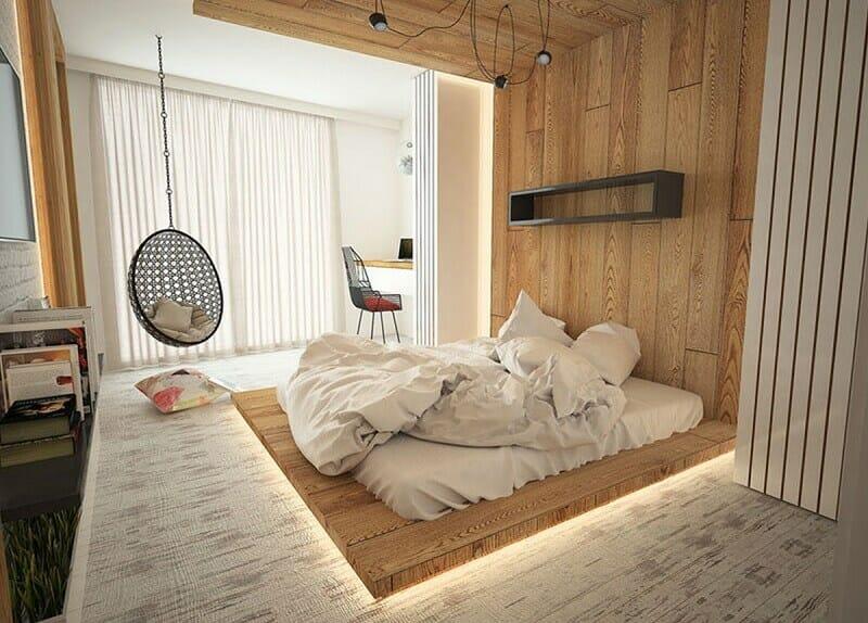 trang trí phòng ngủ không giường