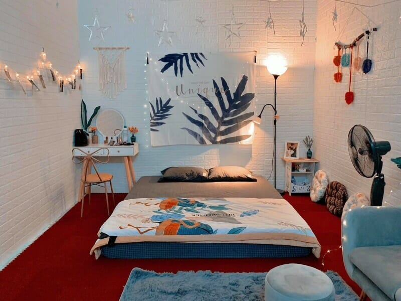 trang trí phòng ngủ kiểu Hàn Quốc đẹp hút hồn + lạ mắt