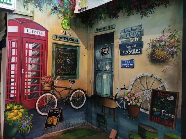 trang trí quán ăn vặt vỉa hè