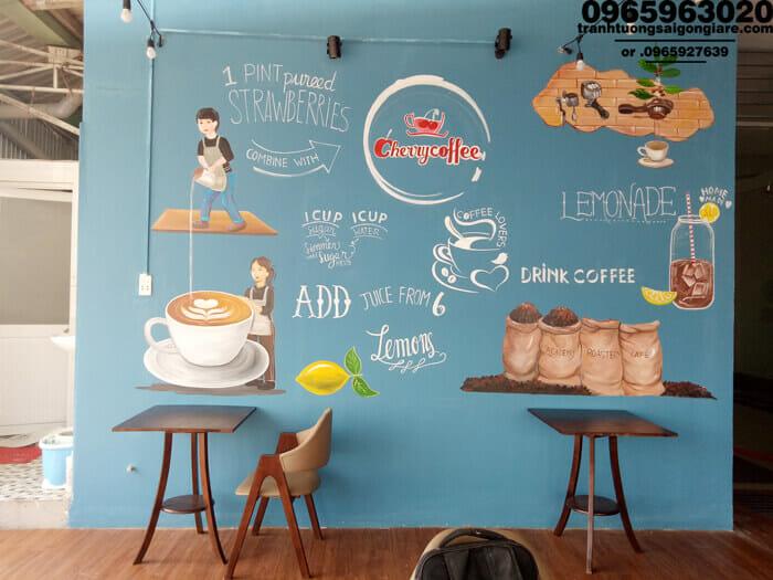 trang trí quán cafe nhỏ chất + ấn tượng
