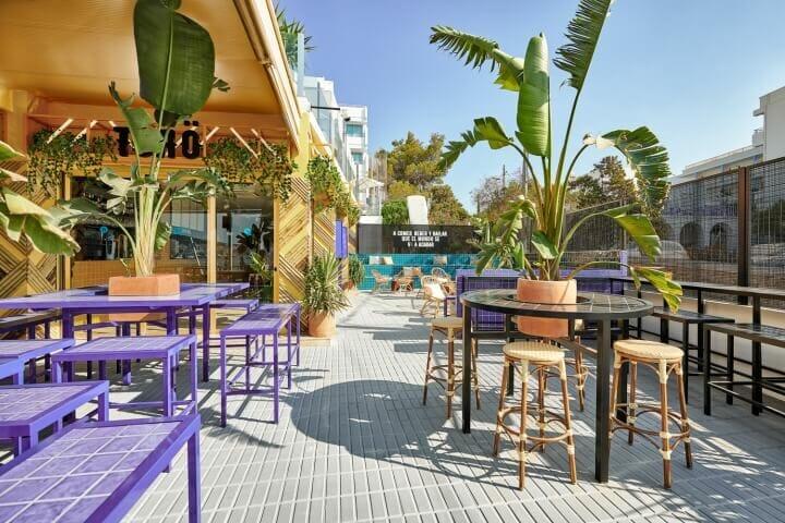 trang trí quán cafe sân thượng chill