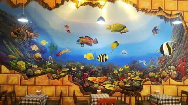 Vẽ tranh tường 2D