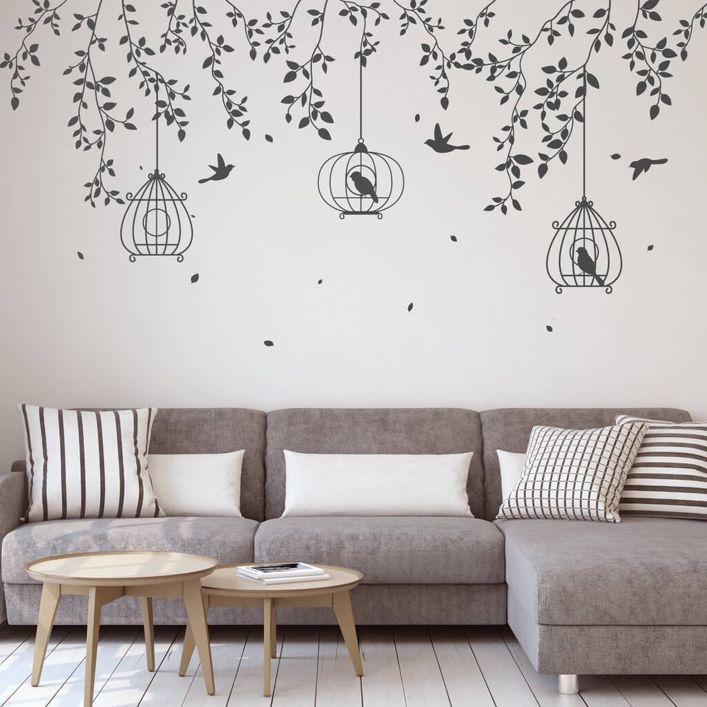 vẽ tranh tường đen trắng đơn giản