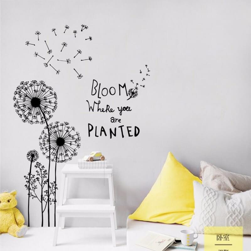 dandelion wall decal amazon with name clock sticker next 908x908 1 vẽ tranh tường Mỹ Thuật Fly Art