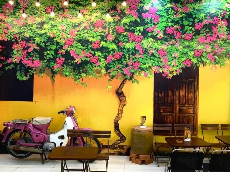 trang trí quán cafe sân vườn đơn giản + tiết kiệm