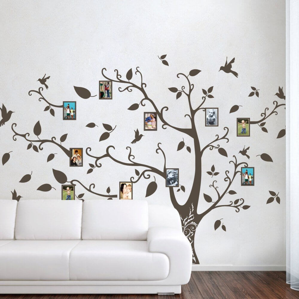 tree wall decal black for living room pictures hobby lobby vẽ tranh tường Mỹ Thuật Fly Art