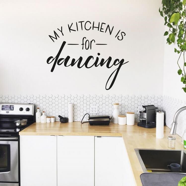 tranh vẽ tường phòng bếp