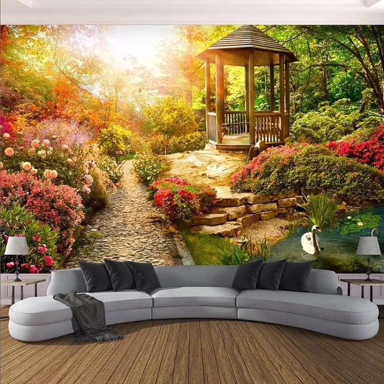 vẽ tranh tường 3D phong cảnh