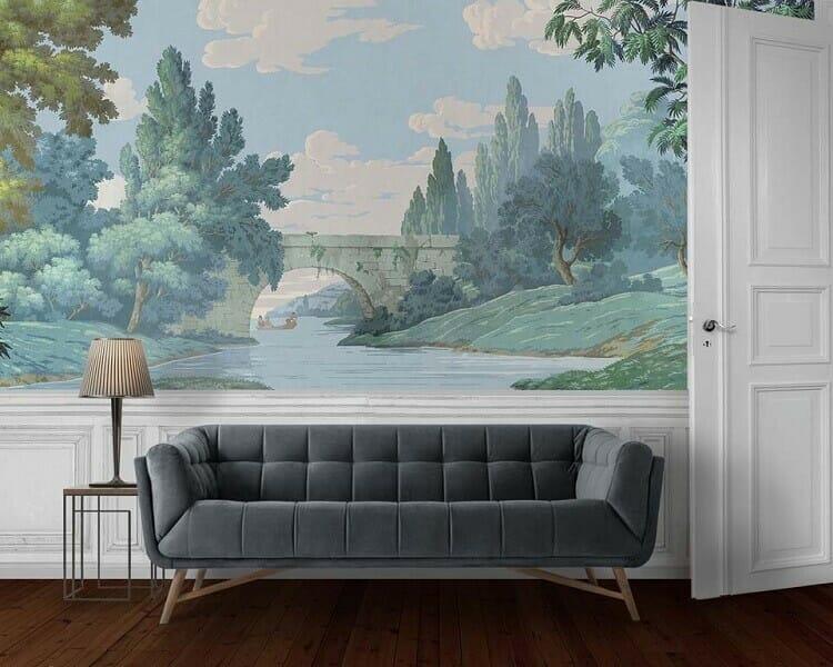 ẽ tranh tường phòng khách