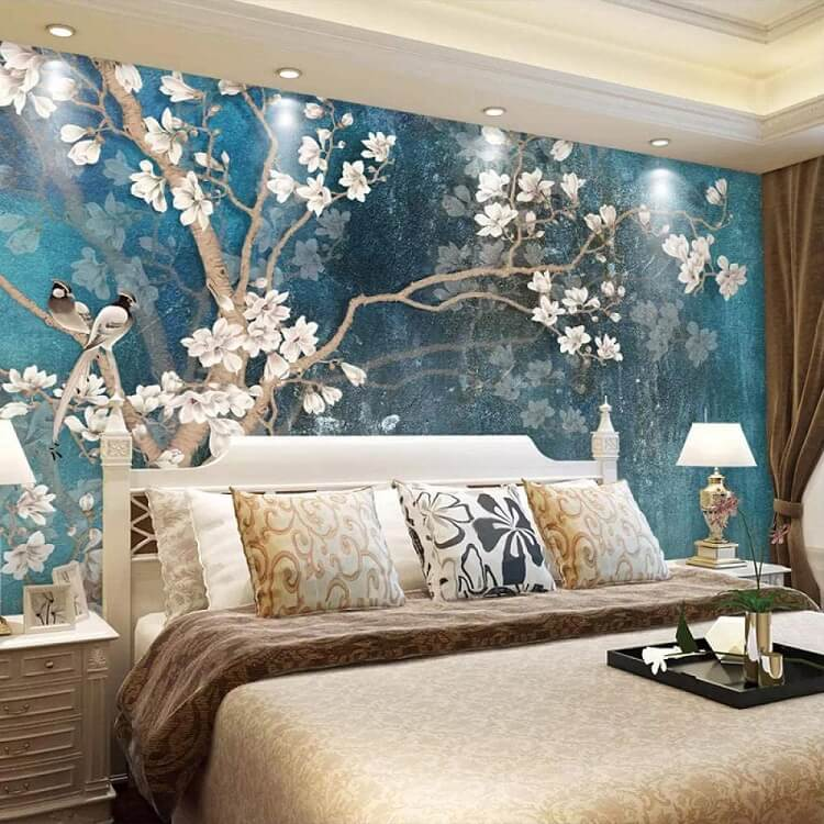 vẽ tranh tường 3D phòng ngủ