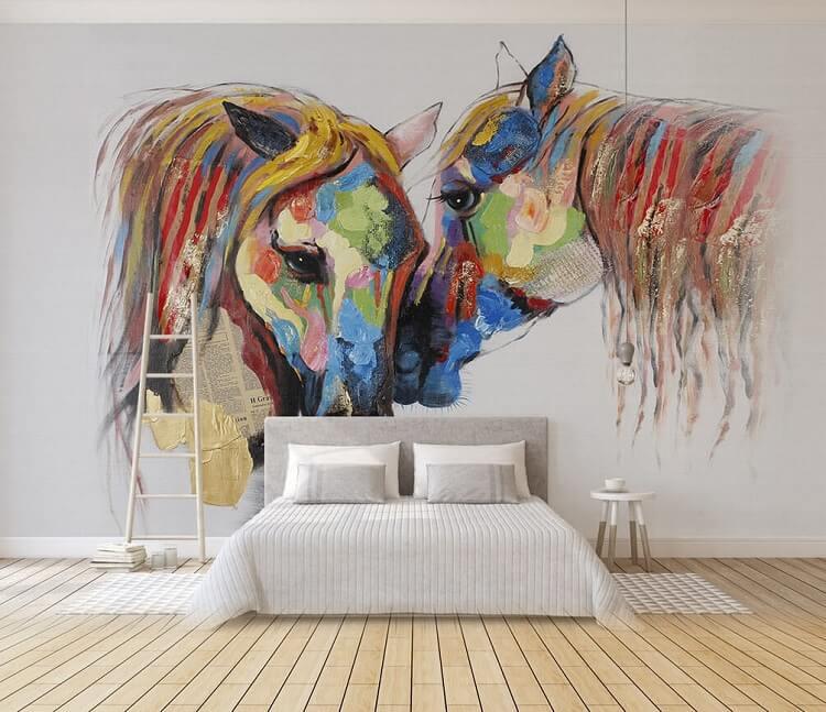 vvẽ tranh tường phòng ngủ