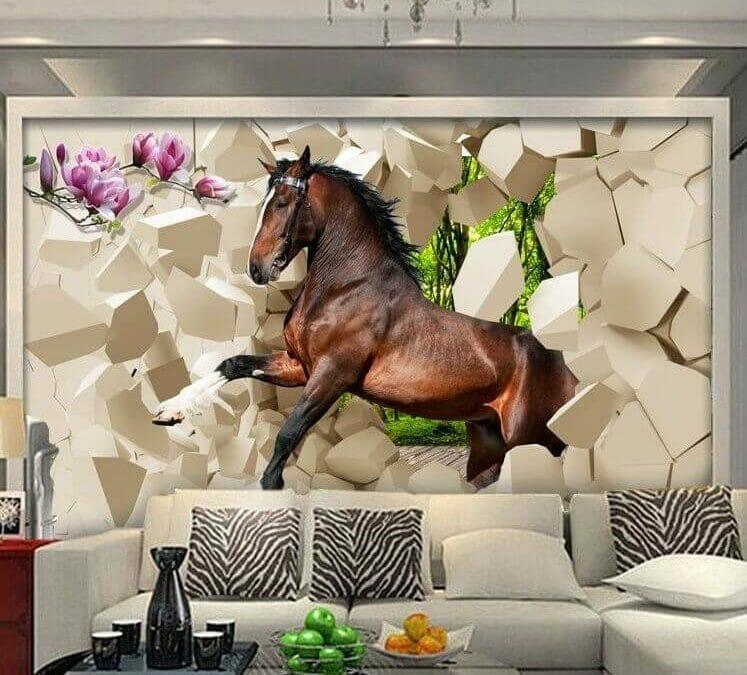 50 Mẫu Vẽ Tranh Tường 2D-3D Phòng Khách Đẹp Ưa Chuộng