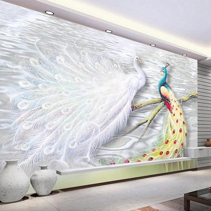 tranh vẽ tường 3d phòng ngủ đẹp nhất