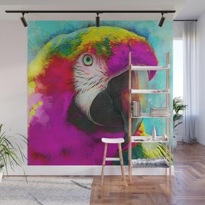 vẽ tranh tường con vật