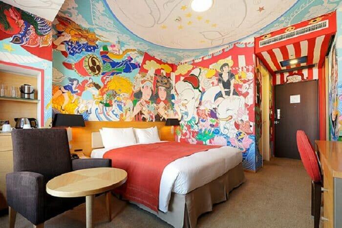 ve tranh tuong khach san 9 vẽ tranh tường Mỹ Thuật Fly Art