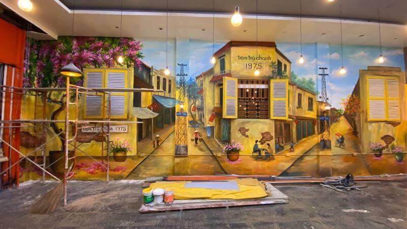 vẽ tranh tường phố cổ Hội An
