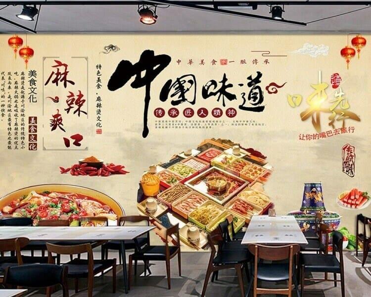 vẽ tranh tường quán ăn