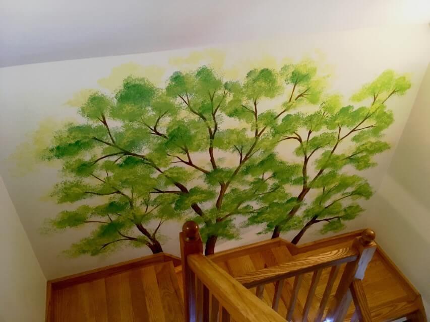 cau thang2 vẽ tranh tường Mỹ Thuật Fly Art