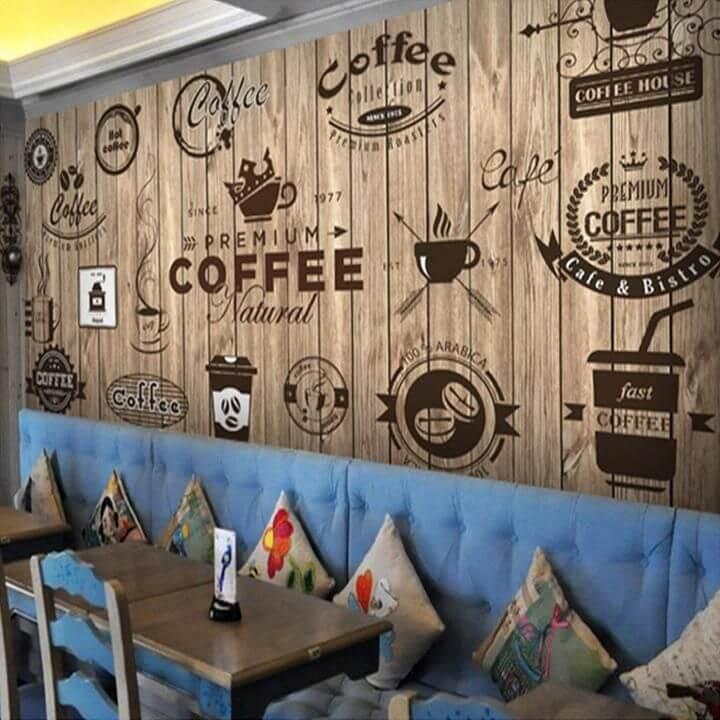 Vẽ tranh tường 3D quán cafe