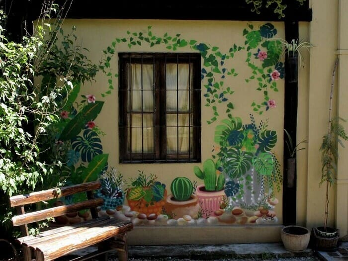 30 Mẫu Vẽ Tranh Tường Ngoài Trời Sân Vườn Siêu Đẹp